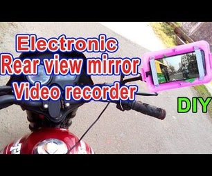 Electronic Rear View Mirror for Motor Bike