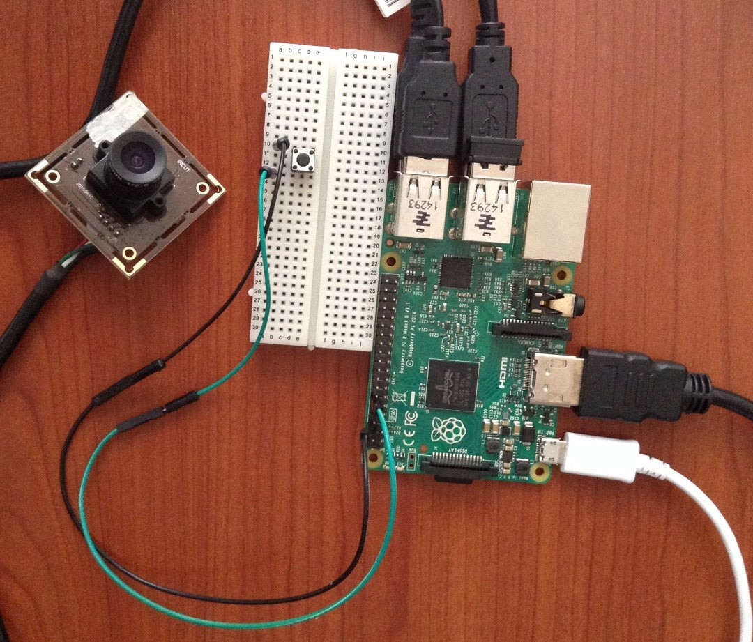 Trigger a Webcam With a Button and Raspberry Pi
