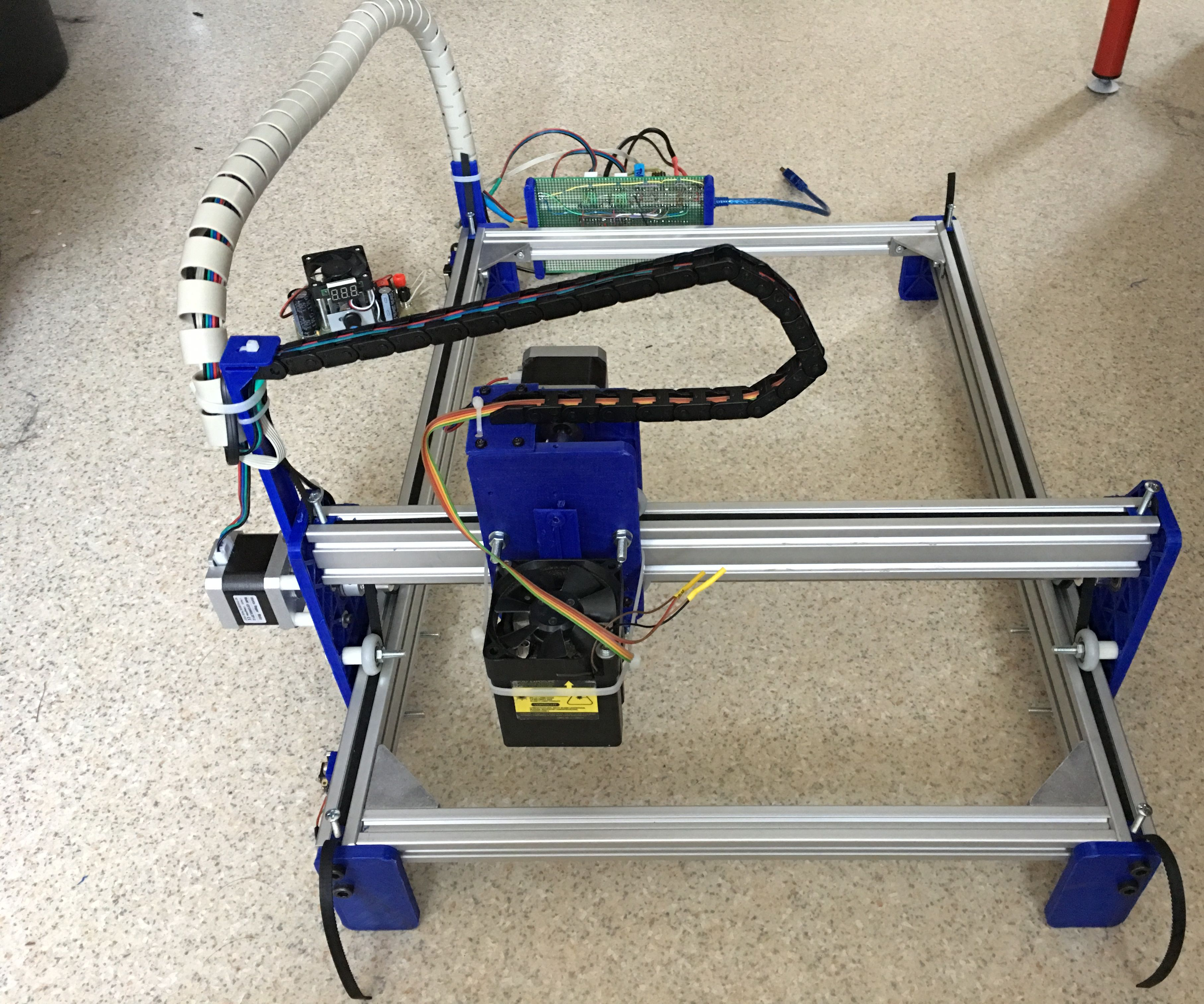 DIY 3D Printed Laser Engraver With Approx. 38x29cm Engraving Area