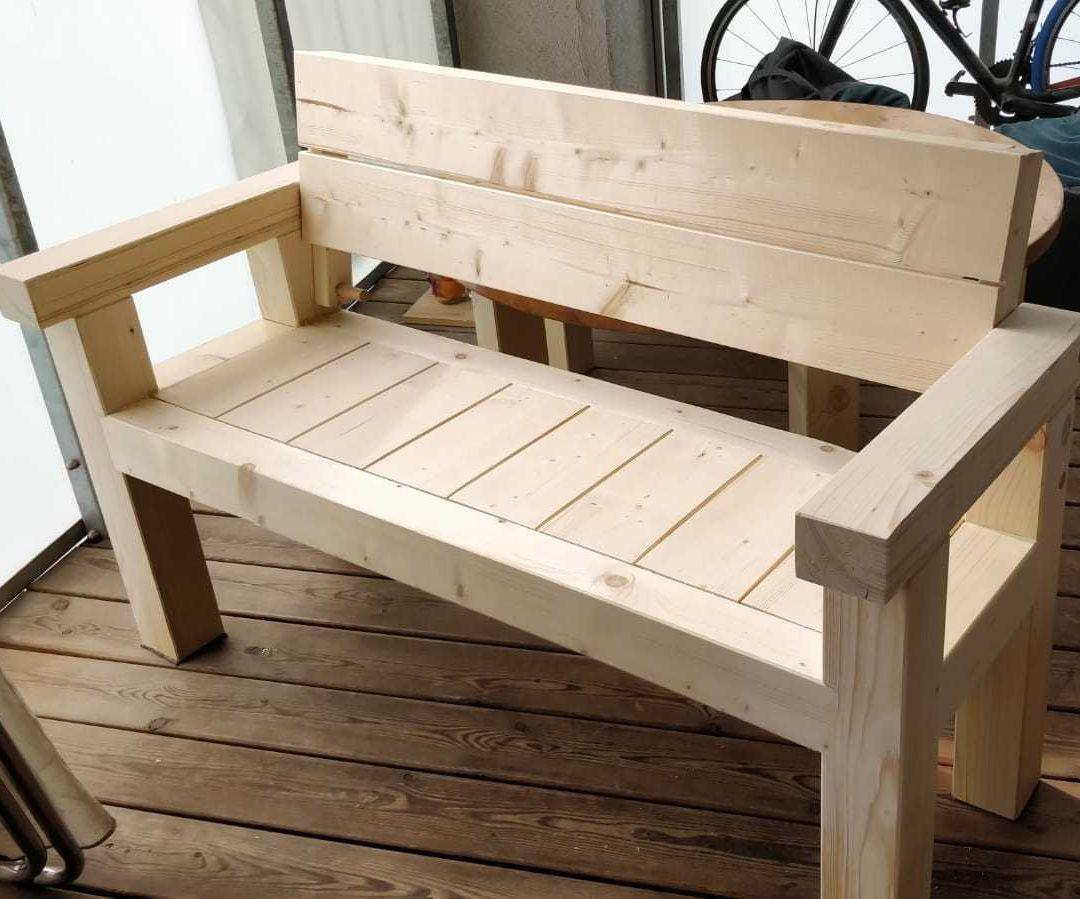 Solid Wooden Outdoor Bench
