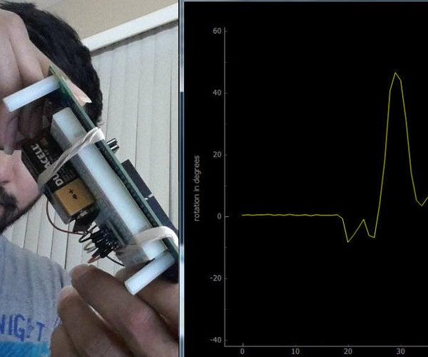Tilt Angle Visualization With Edison, Accelerometer and Python