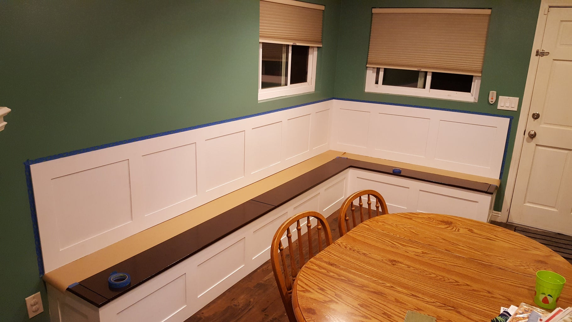 Install and Paint Back Trim