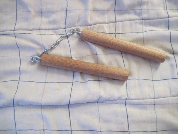 Super Simple Wooden Nunchucks.
