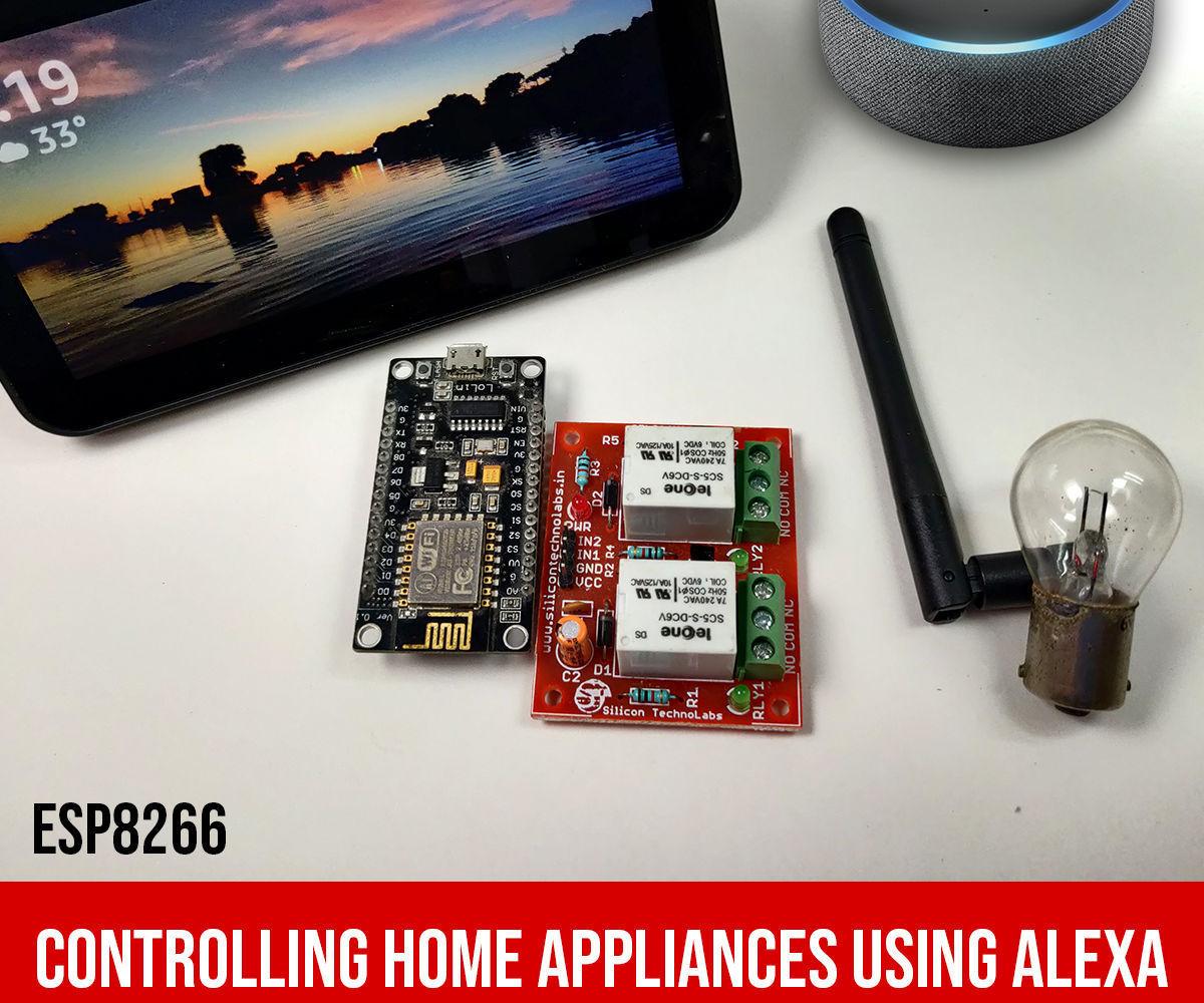 Control Home Appliances Through Alexa With ESP8266 or ESP32