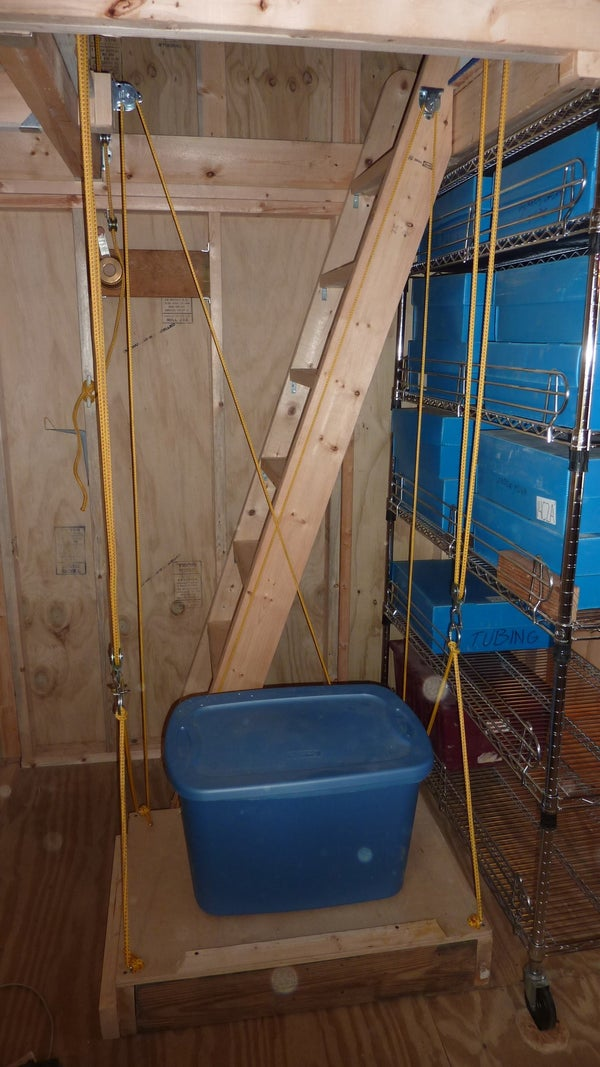 An Elevator for My 10'x12' Storage Shed