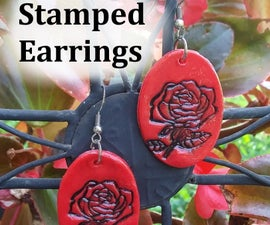 Beginner Jewelry: Easy Stamped Earrings