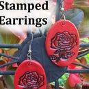 Beginner Jewelry: Easy Stamped Earrings
