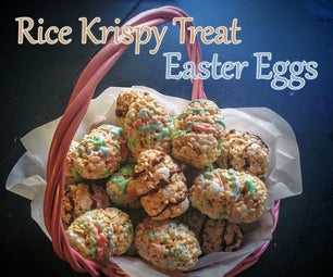 Rice Krispy Treat Easter Eggs