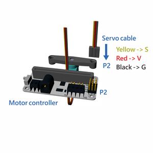 サーボのケーブルをモーターコントローラーに接続しましょう
