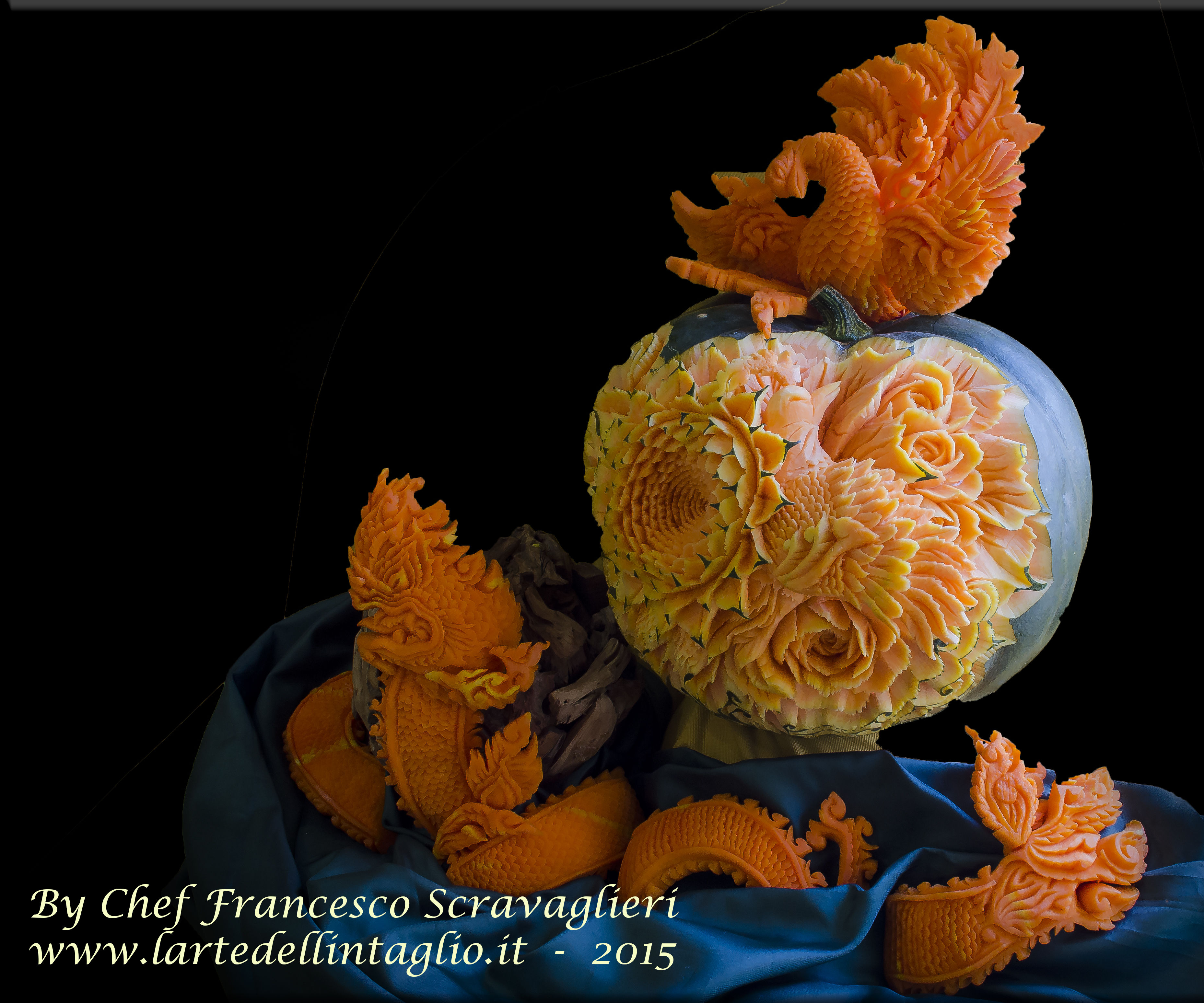 The carving pumpkin