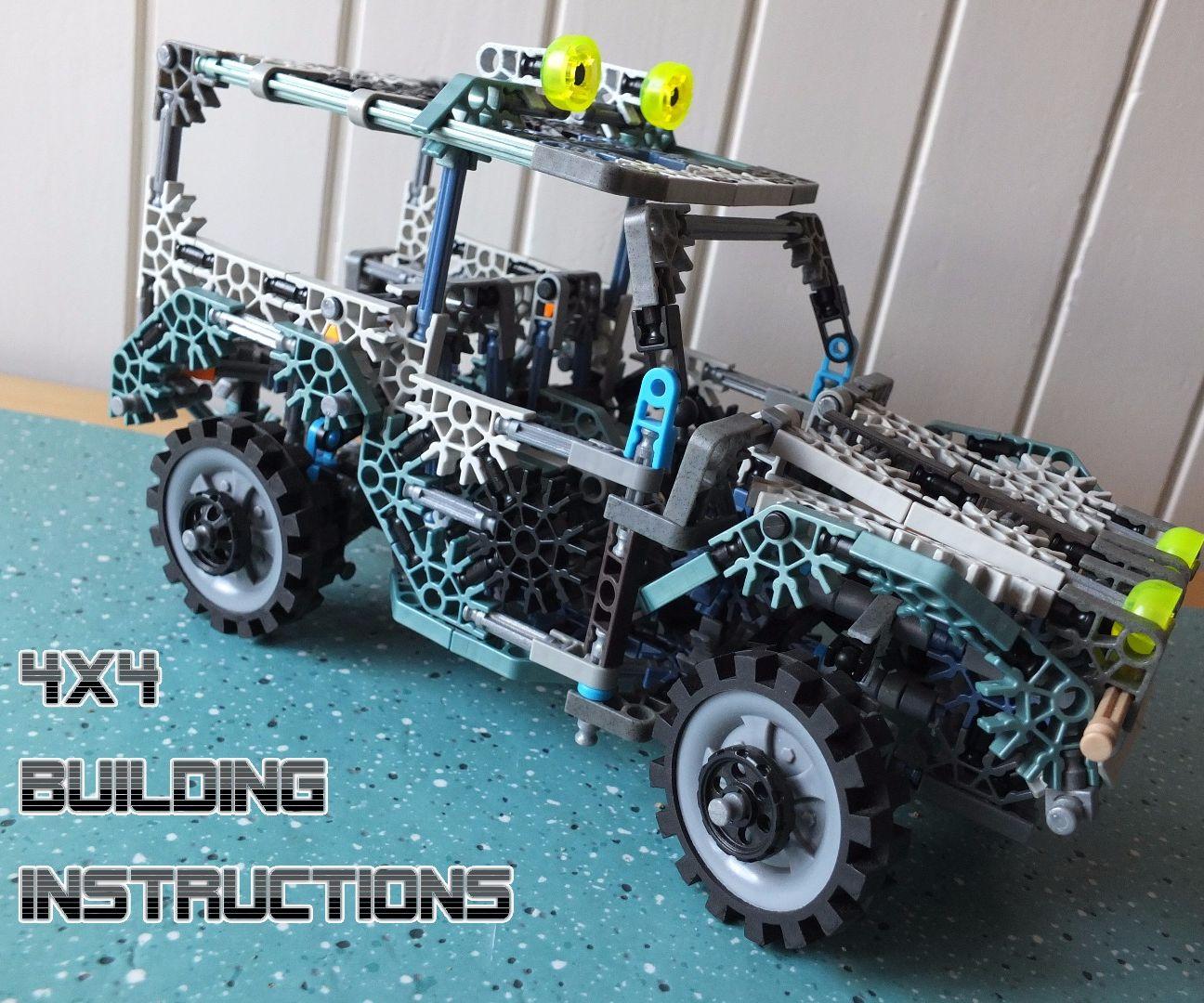 K'NEX 4x4 w/ working suspension & steer [HD Building Instr]