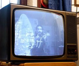闹鬼的电视 - 由覆盆子pi和opencv提供动力