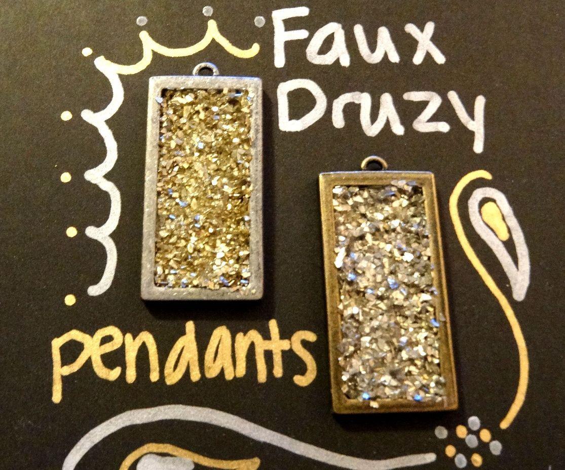 Faux Druzy Necklace Pendant