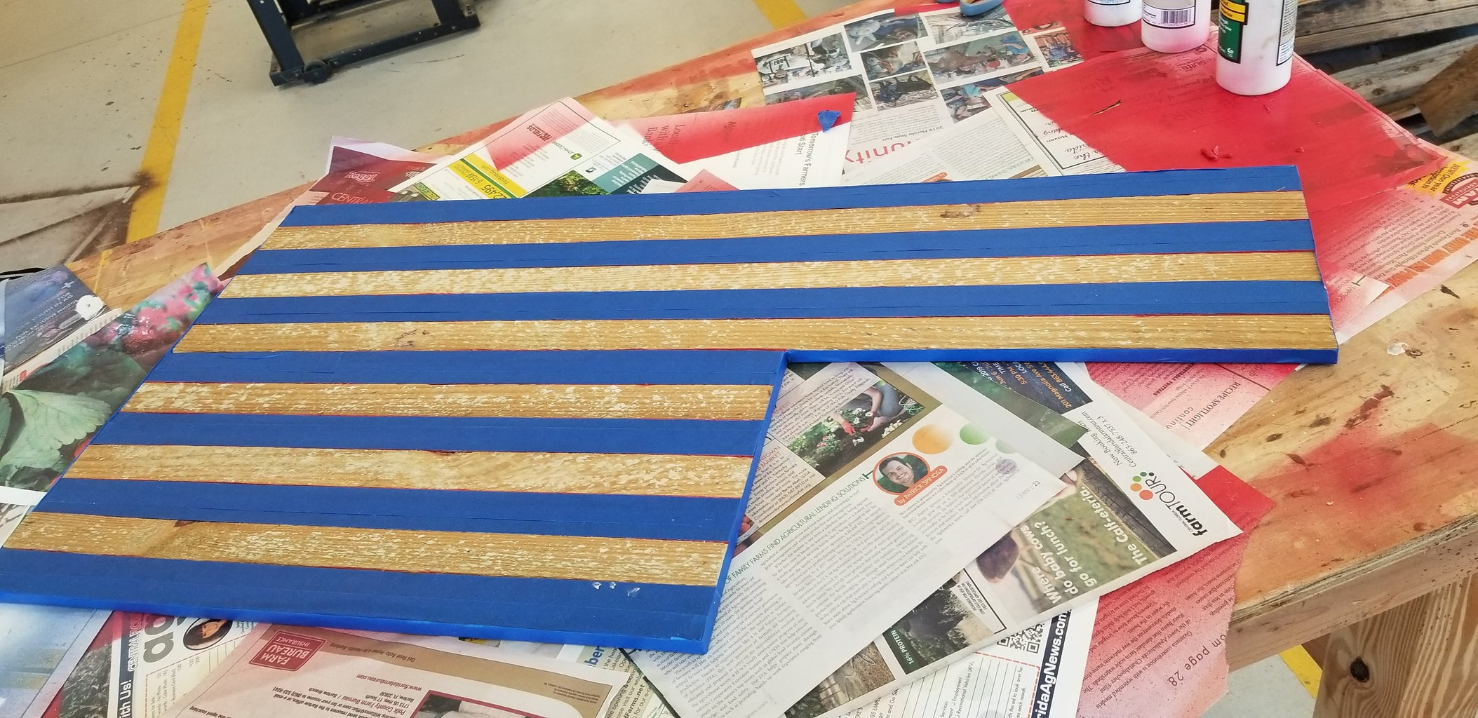 Then Tape Off the Red Stripes