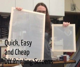 Quick, Cheap and Easy Screen Printing Frames
