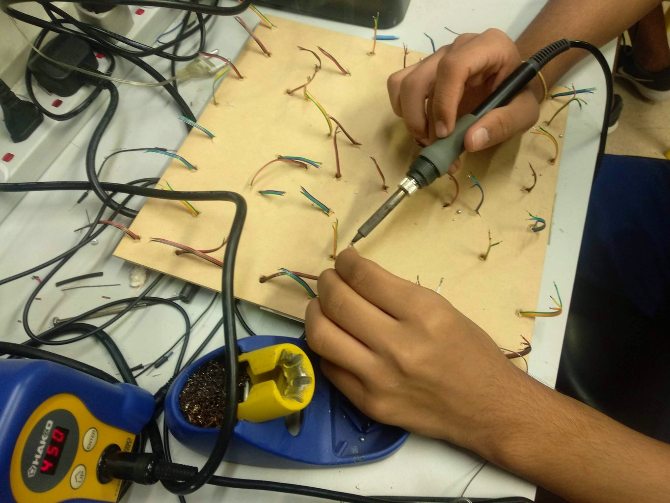 Soldering and Insulating the LEDs