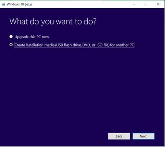Download Windows on to USB