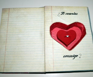 Carve a Book Into a Engagement Ring Case.