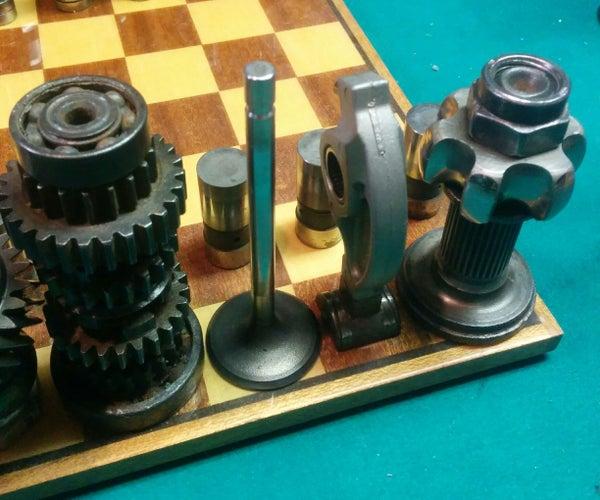 Automotive Chess Set: Valves