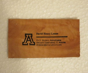 Make Your Own Wood Veneer Business Cards!