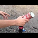 How to make a rocket from Coca cola with prospane
