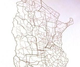 A Map on Scale the Easiest Way / Mapa a Escala De Manera Fácil.