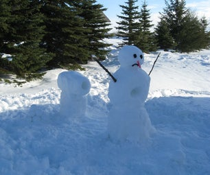 Calvin and Hobbes Snow Cannon and Snowman