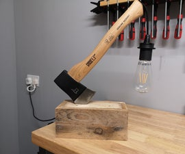 Axe and Pallet Wood Lamp