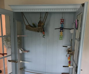 Turn a China Cabinet Into a Deluxe Bird Cage