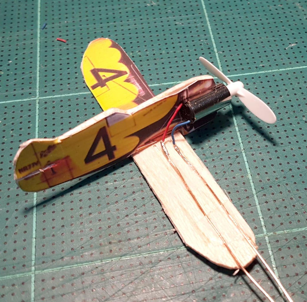Make Gee Bee Plane and Conected All the Wires.
