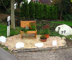 Old Bench Turned Into a Flowerbench