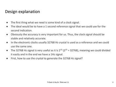 Design Explanation General