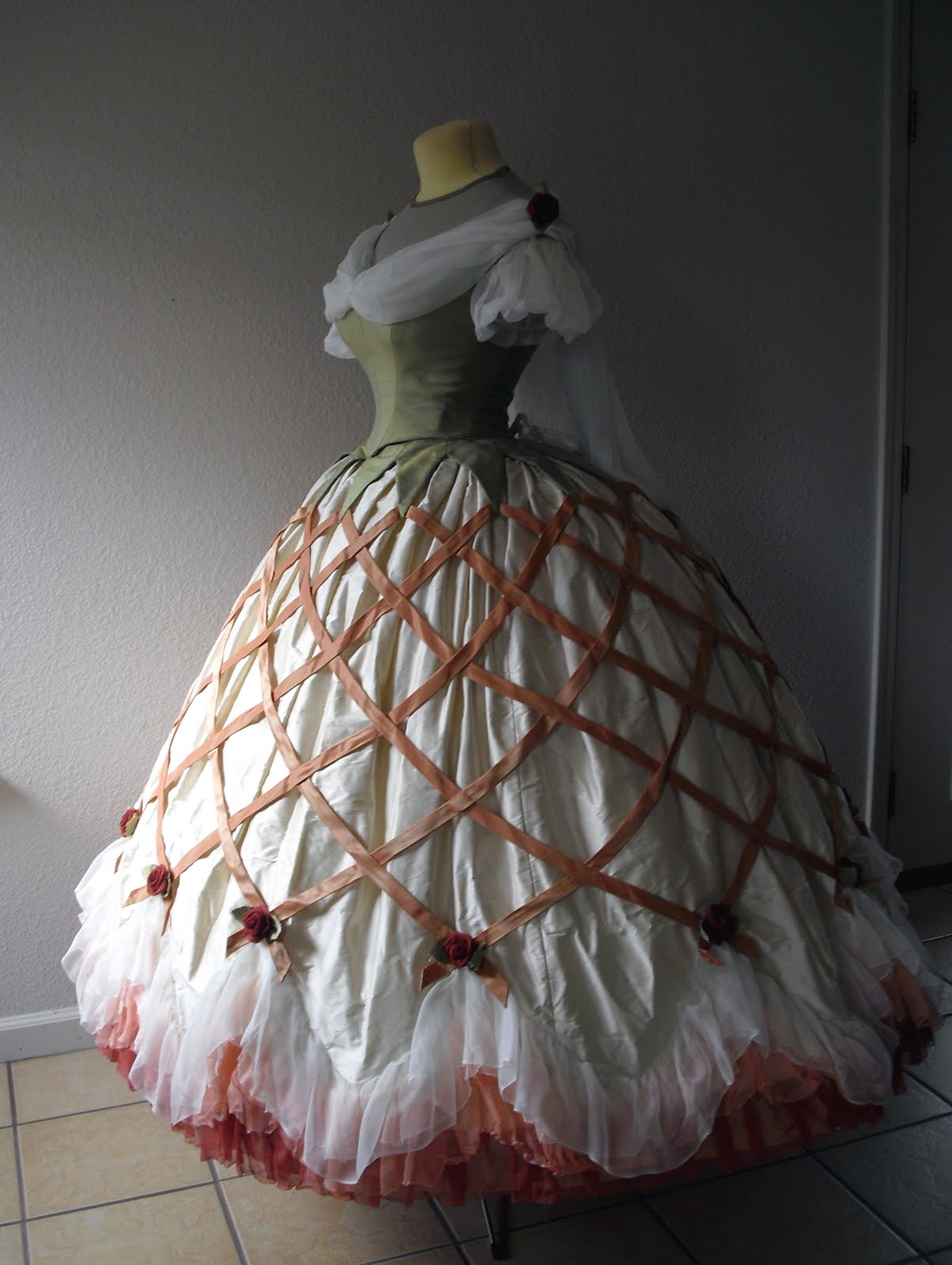 How To Draft A Custom Hoop Skirt Pattern With The Exact Shape You Want 7 Steps With Pictures Instructables Want to learn how to make a simple crinoline, otherwise known as a. draft a custom hoop skirt pattern