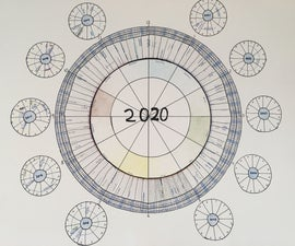 Clock-shaped Calendar