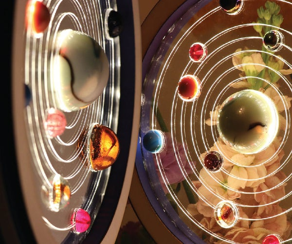 Solar System With Glass Marbles and Light