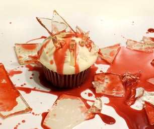 Bloody Broken Candy Glass Cupcakes for Halloween