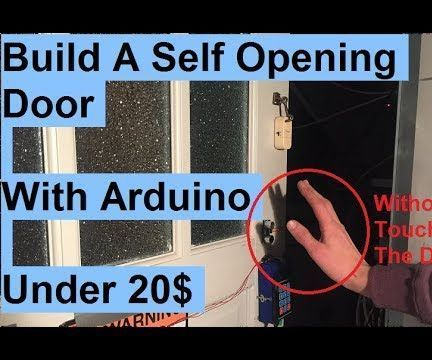 Make a Automatic Self Sensing Opening and Closing Door With Arduino!