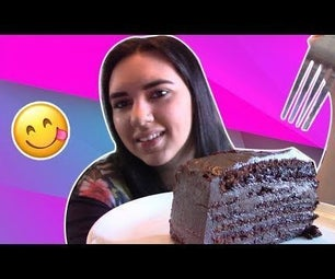 容易巧克力层蛋糕