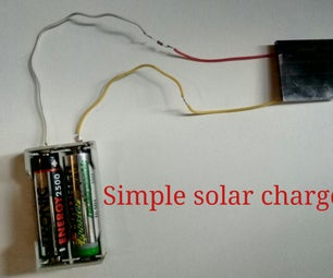 3.5V Solar Panel AA Battery Charger