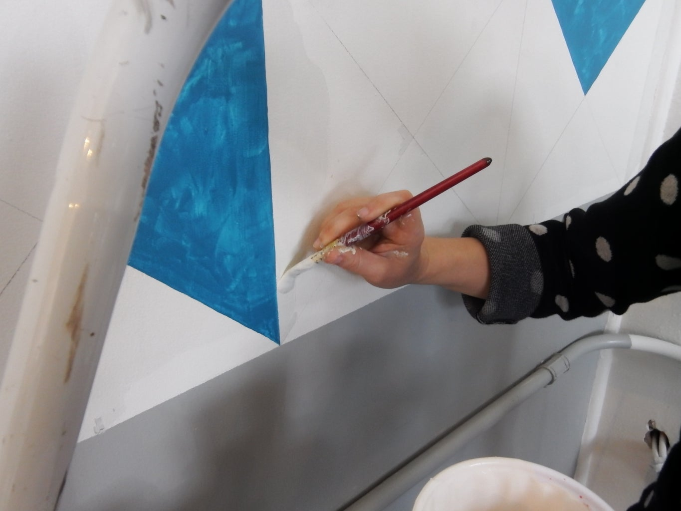 Paint the Triangle Wall Design