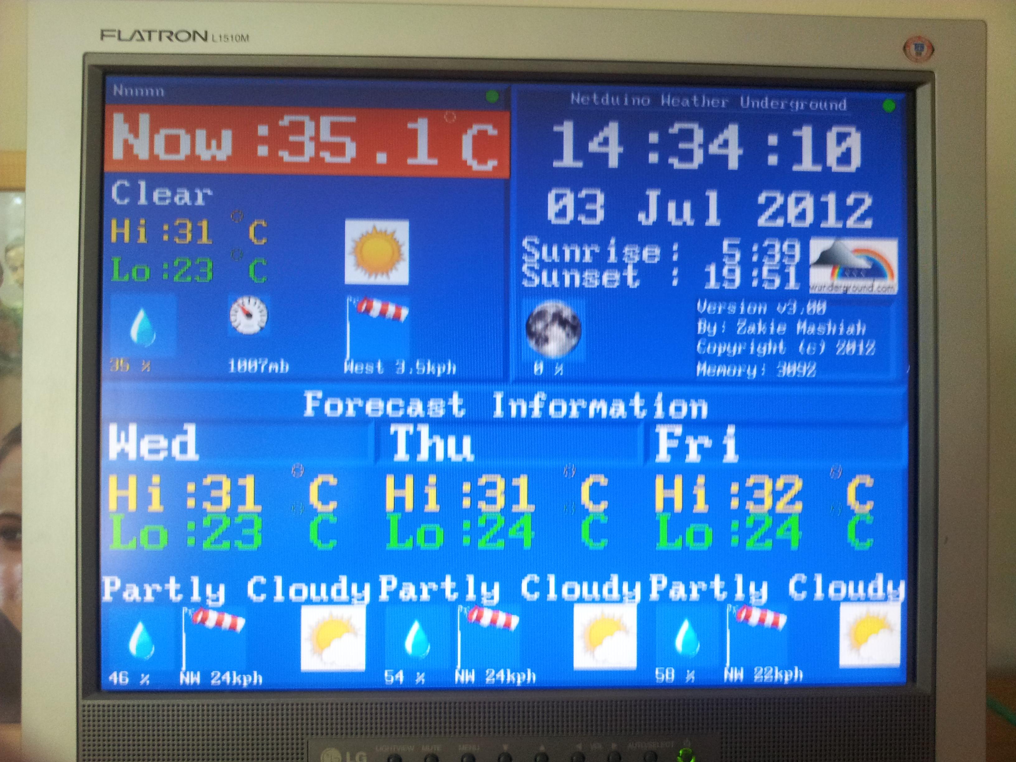 Weather station (Underground) with Netduino