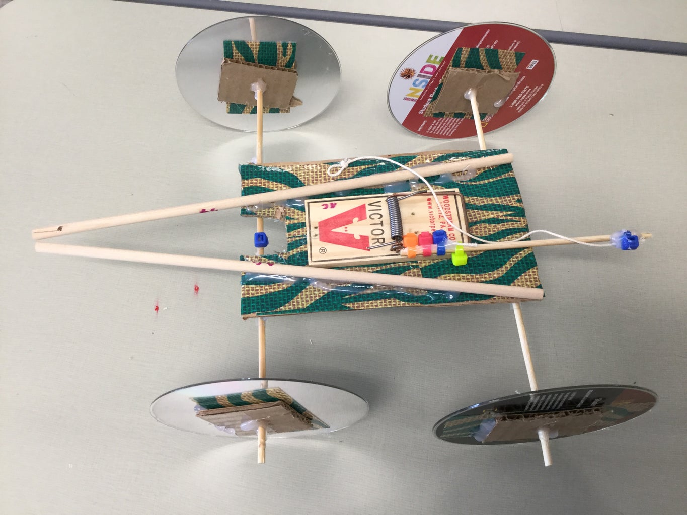 Finish of Mousetrap Car