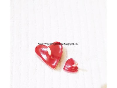 Valentine DIY Heart Shape Candles