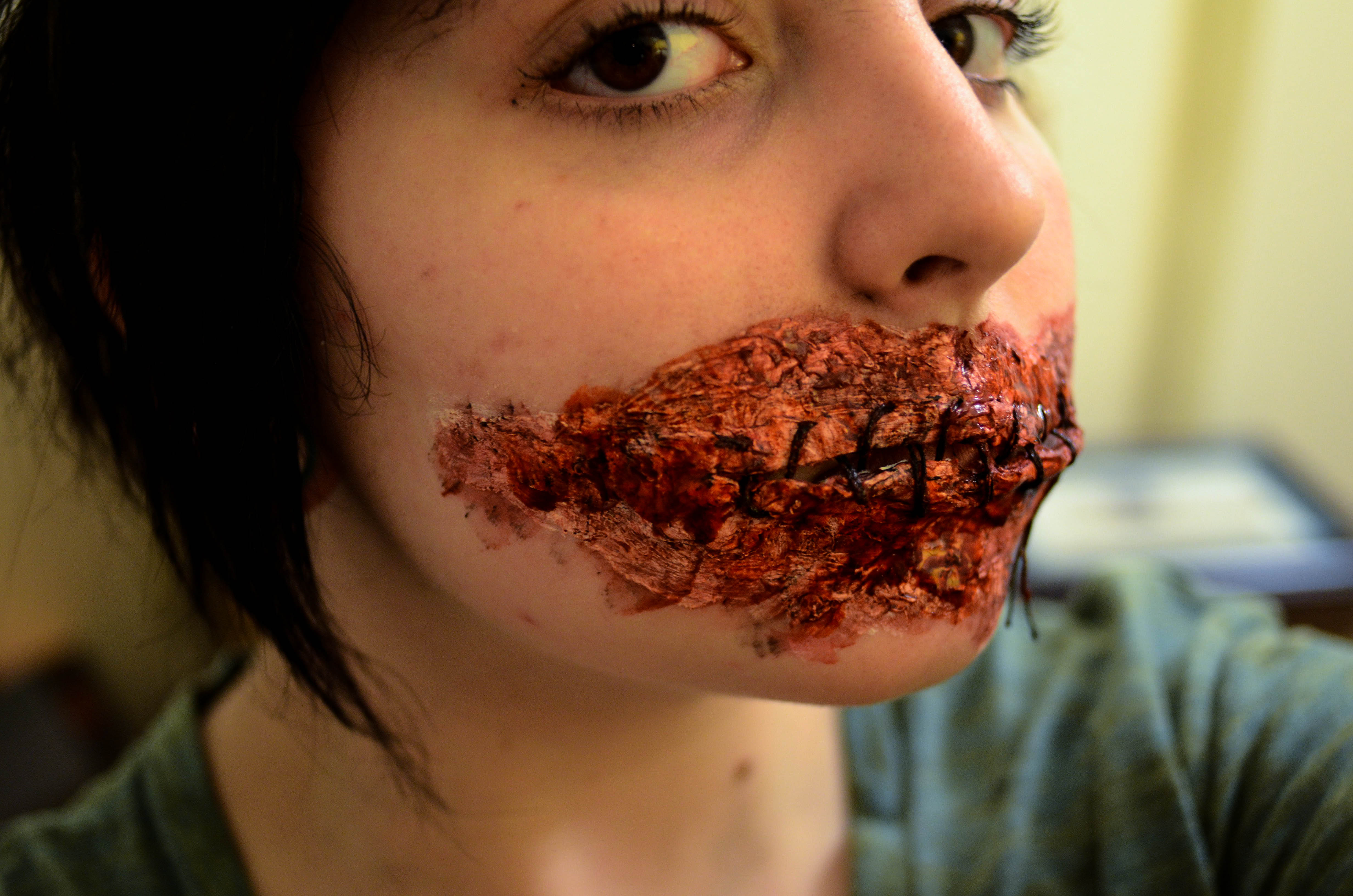 Sewn Mouth FX Makeup Tutorial
