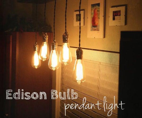 Edison Bulb Pendant Light Fixture