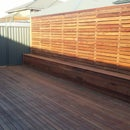 Timber decking on top of concrete