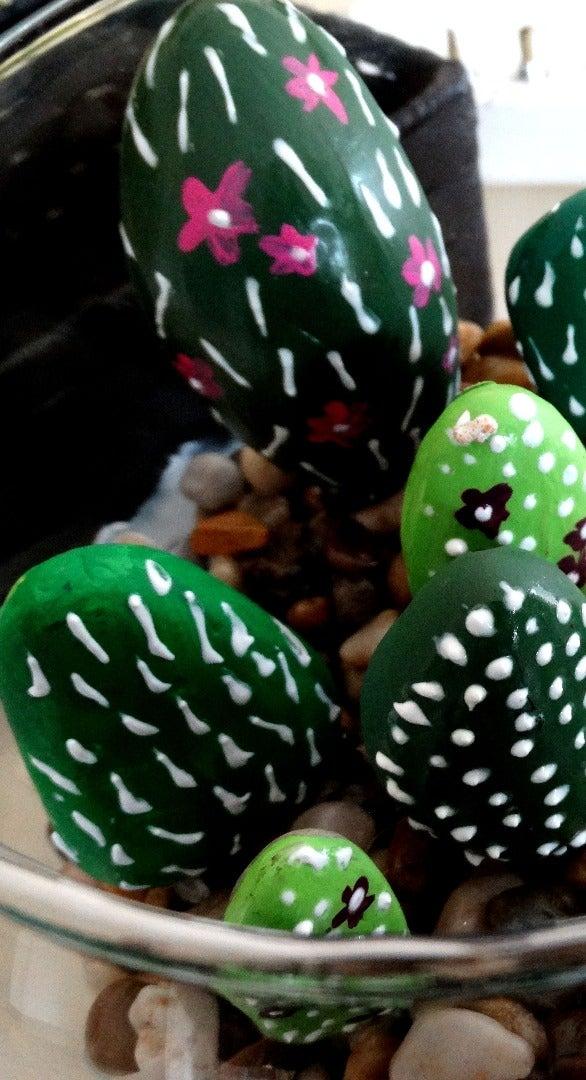 Glue the Cacti Into the Terrarium