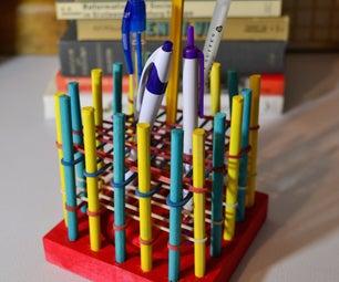 Rubber Band Pencil/Pen Holder
