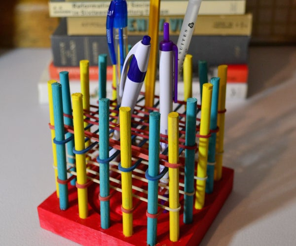 Rubber Band Pencil/Pen Holder