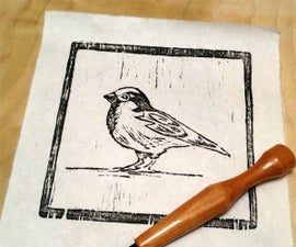 How to Carve a Picture on a Woodblock
